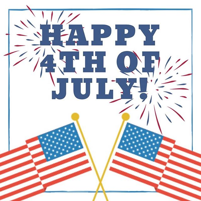 Happy Independence Day!!!! 🇺🇸🇺🇸 We hope everyone is having a safe summer vacation!