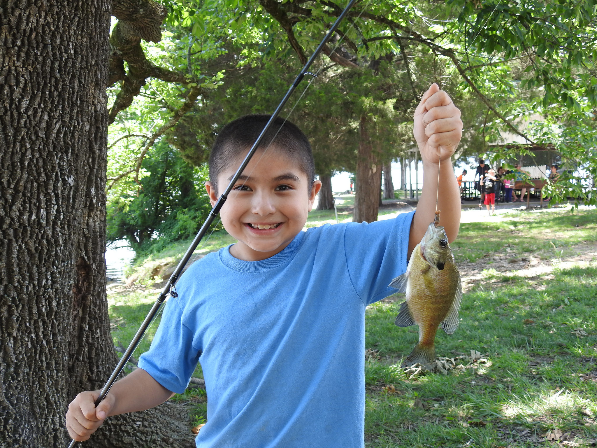 During Outdoor Adventures camp, kids learned how to become master fishermen!