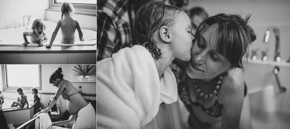 Daughter supports mom through labor at Portland birth center