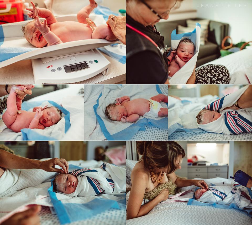 brand new baby at portland oregon birth center womens healthcare associates