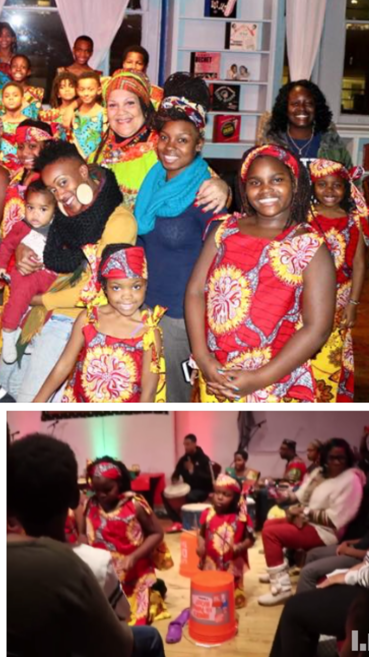 Next Generation and the parents celebrate Kwanzaa.