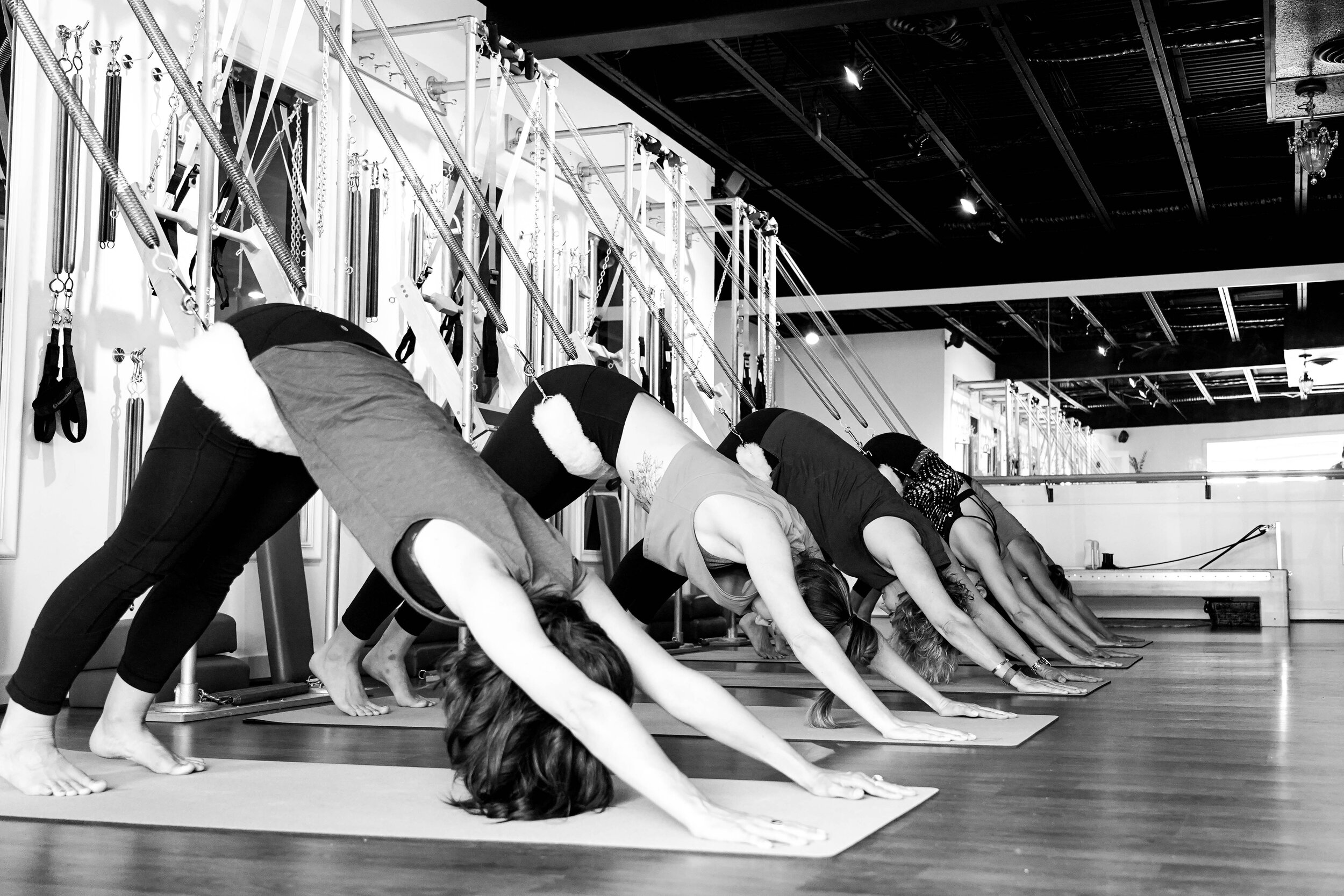 pilates tower & chill - Release, flow, move. A flowing 50 minute class using traditional Pilates Tower springs to support your body so you feel muscles activating while tension is being released.
