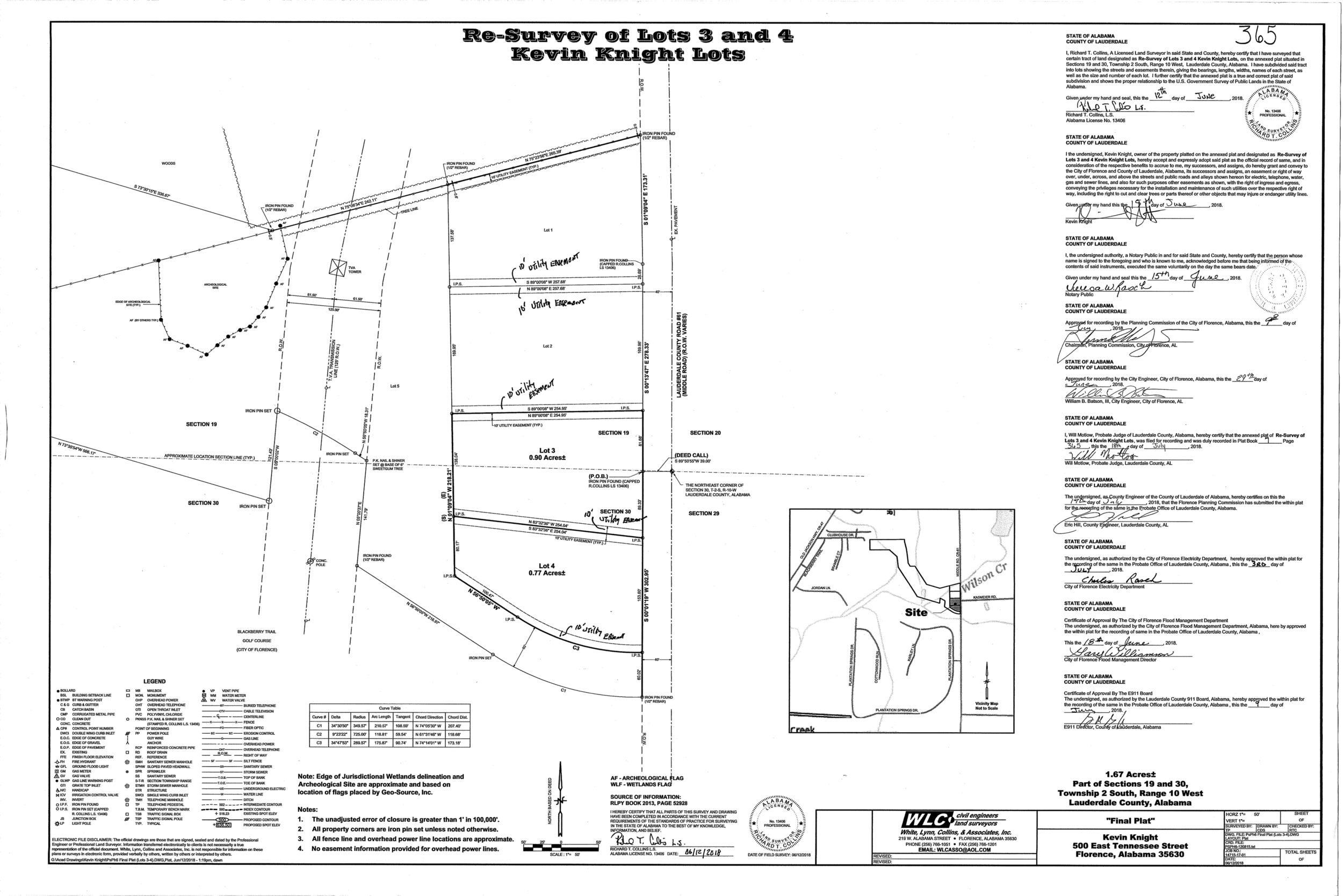 Plat-Kevin Knight Lots Resurvey of Lots 3-4-1.png