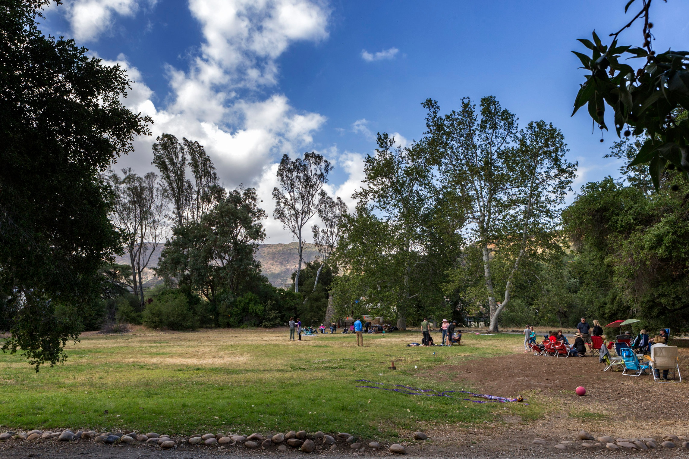 The lawn at Peter Strauss Ranch. The perfect spot for a pre-show picnic.