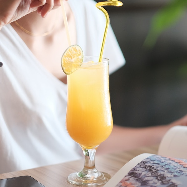 2.Orange Juice - Sweet, cool, and delicious, OJ is the perfect partner for your OG. It has a good hit of vitamin C, and is just the ticket out of the dry-mouth desert.