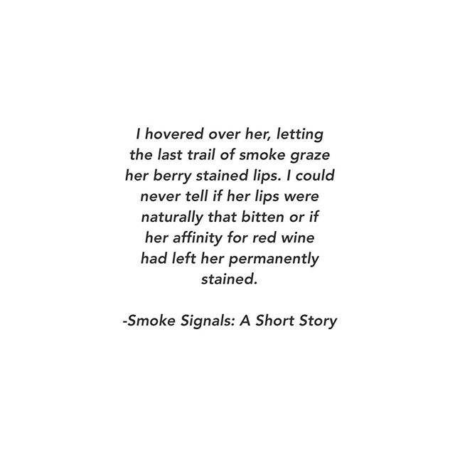 Taking a quick break from finalizing my book of poetry for submission to publishers to revisit another favorite form of mine, the short story! I'm currently writing Smoke Signals and hoping to self publish it shortly after! I hope you all enjoy this short snippet from the story! Please like and follow for more 😊✨✨✨Also, if you're a graphic designer/illustrator friend of mine, I would love to work with you for a few small illustrations for the story once it's completed!
