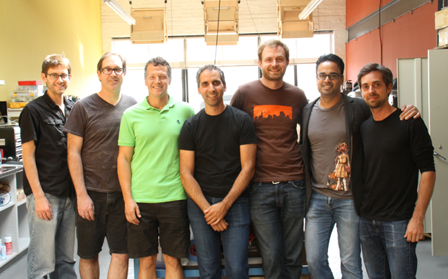 Mike with team at Think2Build