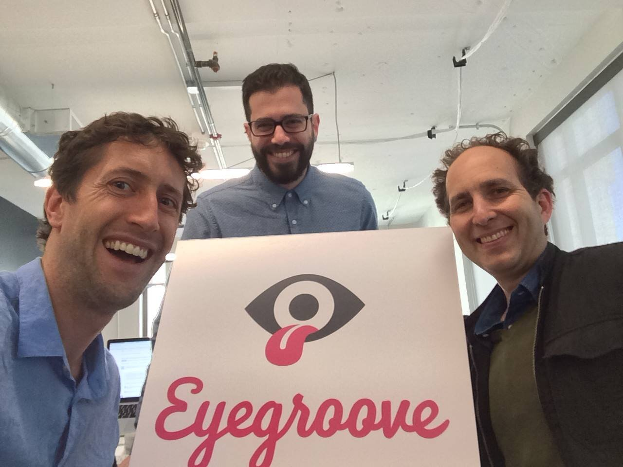 Eyegroove when we were three people (Graham McDermott, Jesse Fulton, Scott Snibbe).