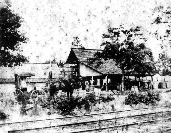 Turn of the century turpentine operation in Gretna- Photo Courtesy of the  Florida Memory Project