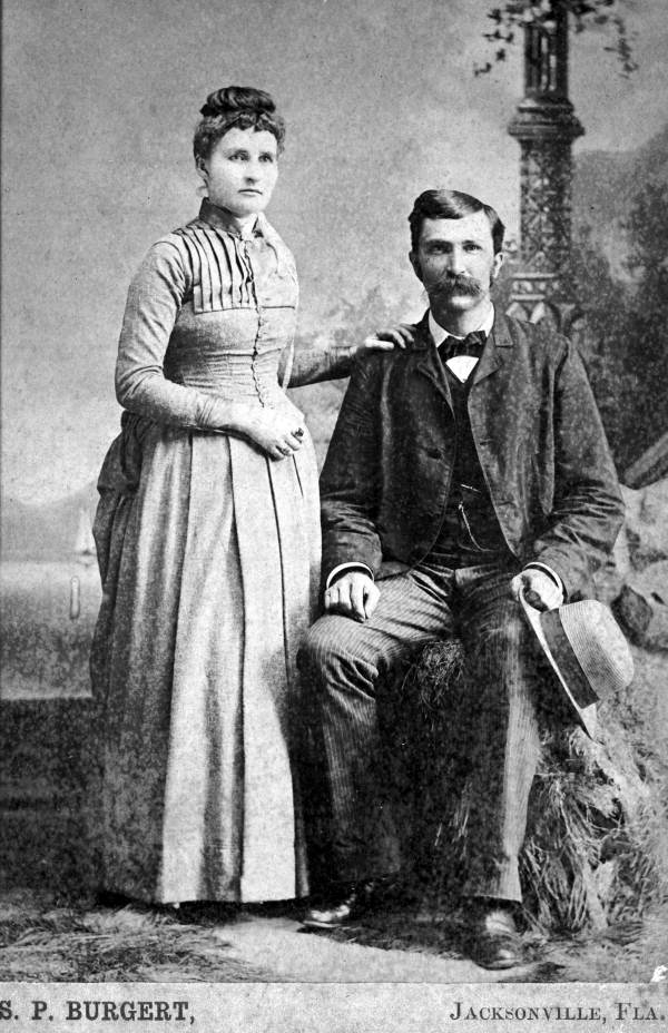 Jenny and W.S. Moore c. 1890- Photo Courtesy and Property of the  State Archive of Florida