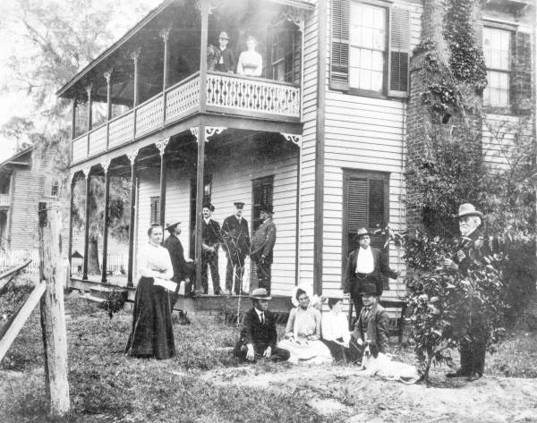 Guests gather outside the hotel c. early 1900's- Photo Courtesy and Property of the  State Archive of Florida