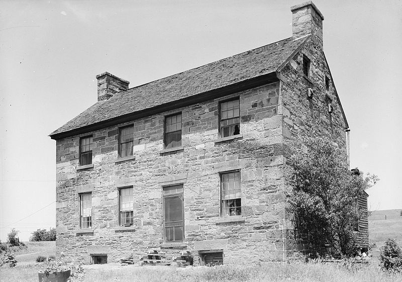 The Old Stone House in 1959-  Courtesy of the National Park Service