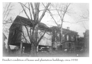 hancock georgia glen mary plantation orig photo 1930 derelict house and bldgs.jpg
