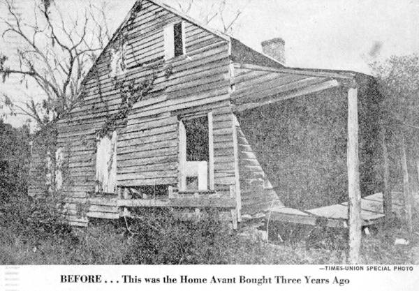 The home as it sat in the 1950's when the Avant Family purchased it - [Photo courtesy and property of the State Archive of Florida]