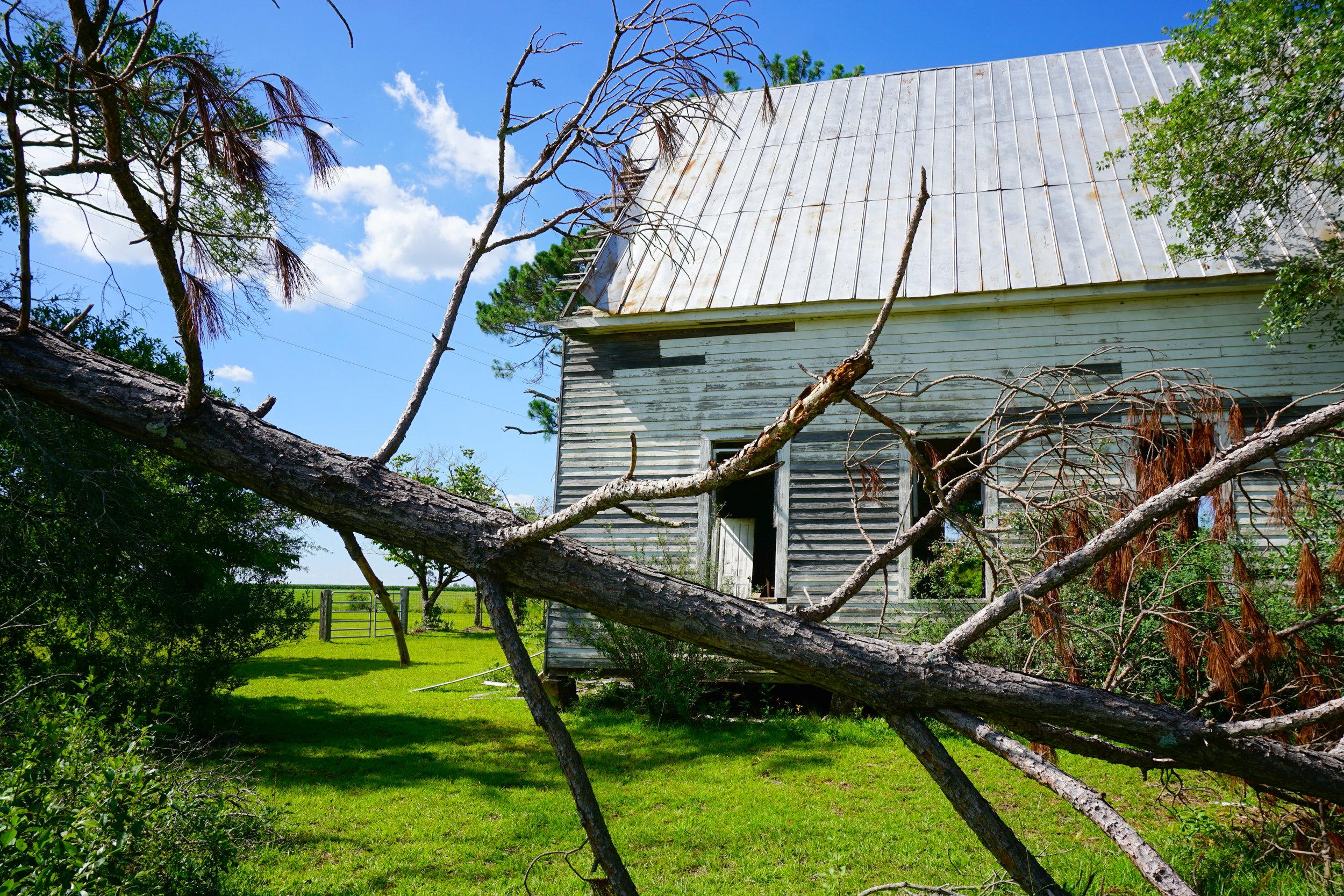 youngs chapel abandoned georgia church tornado damage