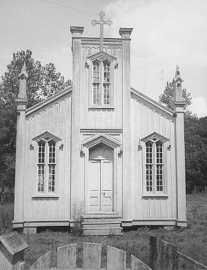 Rodney Catholic when it still sat in Rodney c. 1940s