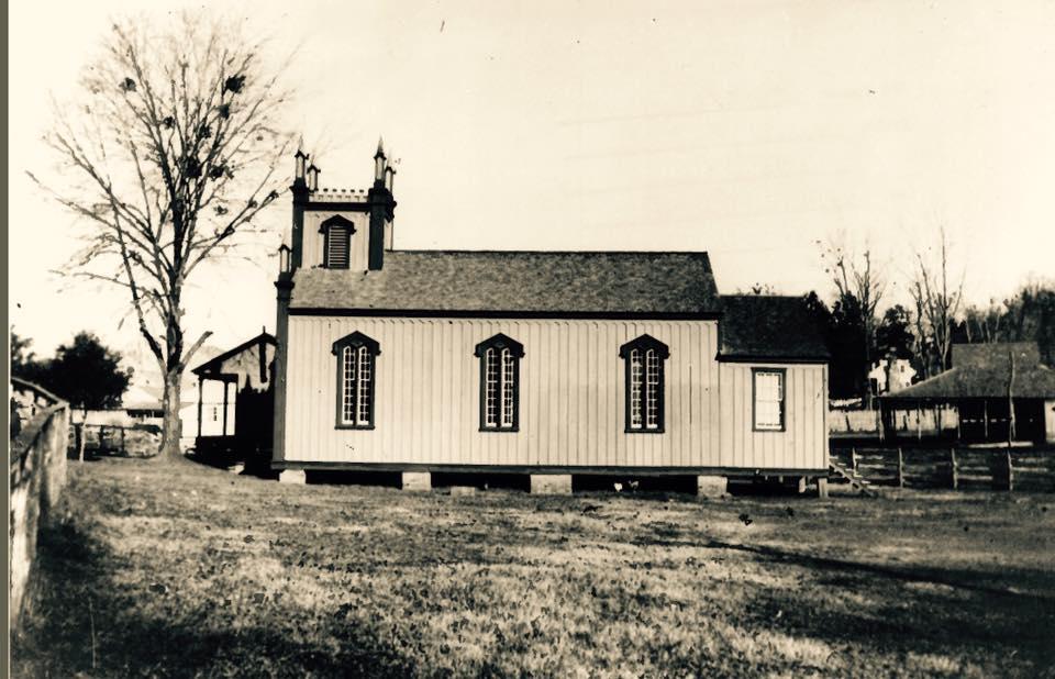 Rodney Catholic Church when it still sat in Rodney, c. 1930s