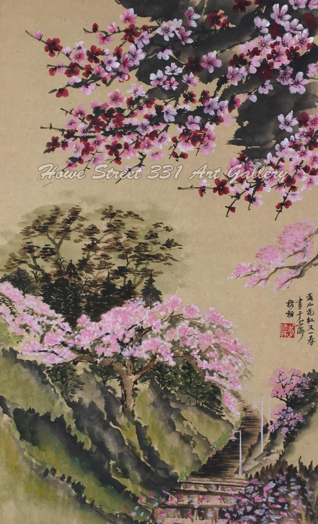 李伟  李伟先生的绘画主题非常多样。他擅长画植物,水果还有侍女图,特别精通于画动物,昆虫还有山水。他画中每一只动物的神态都不一样,活灵活现,好像那些纸上的鸟儿,鱼儿,老虎,雄鹰都有自己的灵魂。
