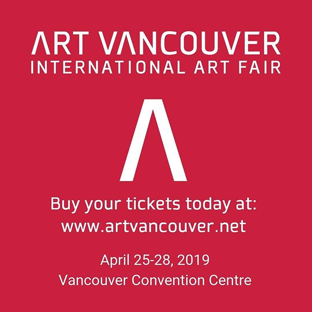 Two weeks left!! Art! Vancouver International Art Fair April 25th to 28th, 2019 Vancouver Convention Centre @artvancouver  Please email me to get the 20% discount on all tickets code!