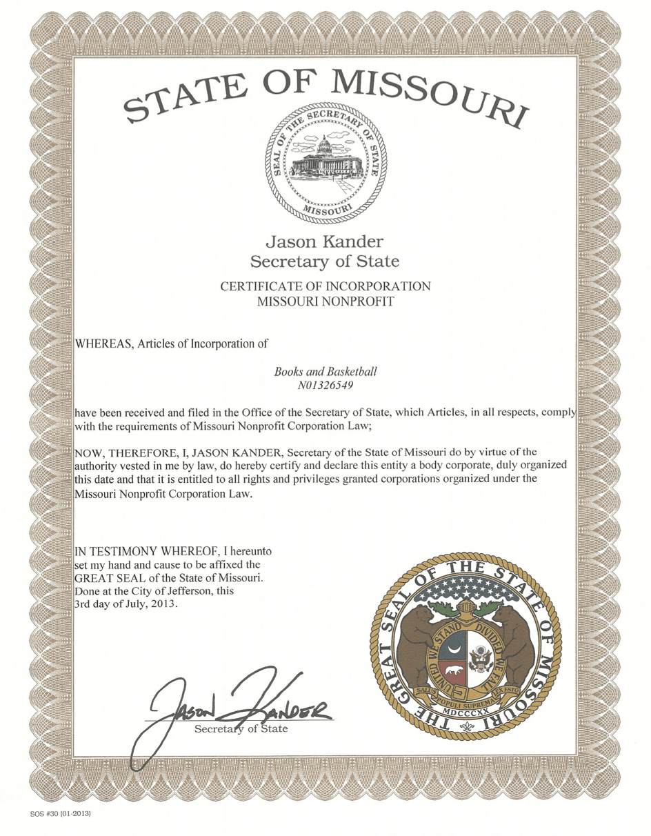 We are a state certified non-profit. -