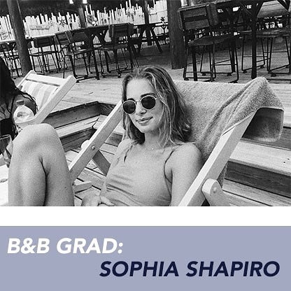 Huge thank for the endless hard work and dedication our recent graduate has put into our program. Once a volunteer and then president, Sophia Shapiro has improved B&B every day. Check out our Facebook Page to learn more about our wonderful team member @s0shaps ❤️