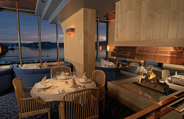 There are several fantastic restaurants onsite. Don't skip Beverly's; it has incredible views from The Coeur d'Alene Resort's 7th floor.