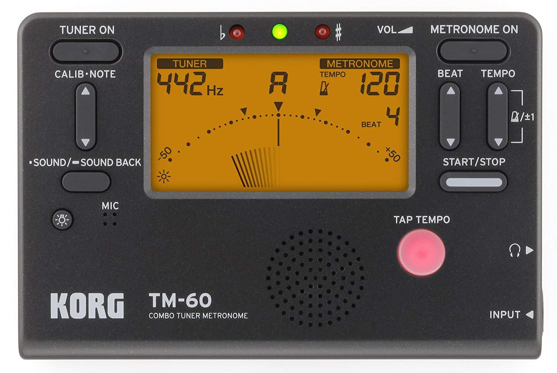 Korg TM60BK Tuner Metronome, Black.jpg