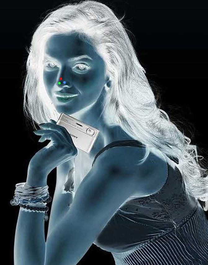Stare at the red dot for 30 seconds, then blink hard and look up at the ceiling. See the girl in full color! Image Courtesy: brainden.com