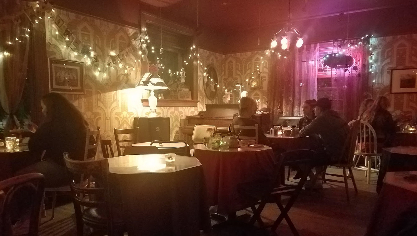 The cool, timeless interior at Rimsky-Korsakoffee House screams eclectic and odd. Very fun for late night visit. Image Courtesy: John Nelson