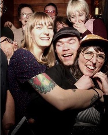 How many opticians can you fit in one photo booth? @churchbarpdx we came up with 9. Who can do better? #clowncar #wehavefunhere  #eatdrinkrepent #shoplocal #pickleback #eyesonbroadway #weekend #yesplease #takemetochurch #aprilshowers