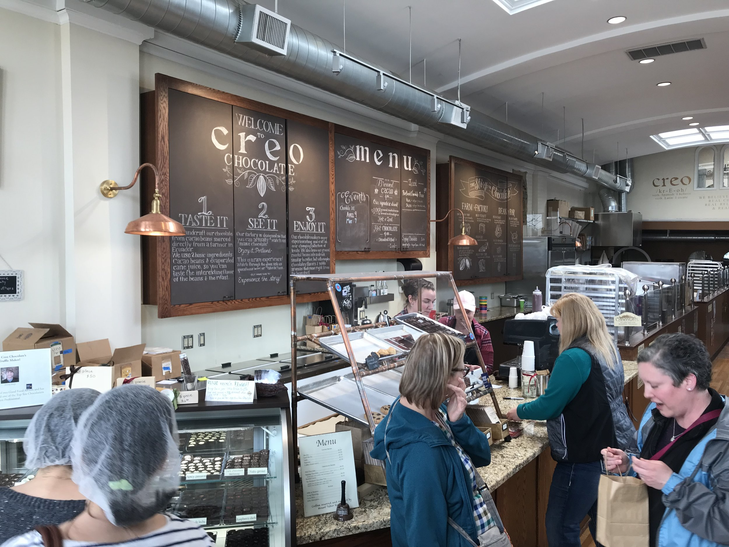 A view inside Creo Chocolate Factory. If you enjoy chocolate, this place is your jam. Image Courtesy: Dan Meyers