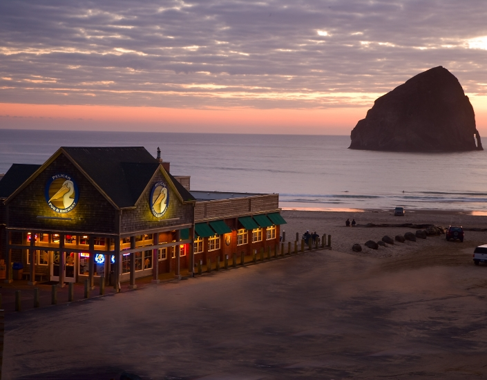 Directly across the parking lot from the Headlands sits the Pelican Brew Pub. Award winning for its craft beers, this place has transformed the vibe in Pacific City over the years and provided a great, apres surf respite for myself and many others! Image Courtesy: YourLittleBeachTown.com