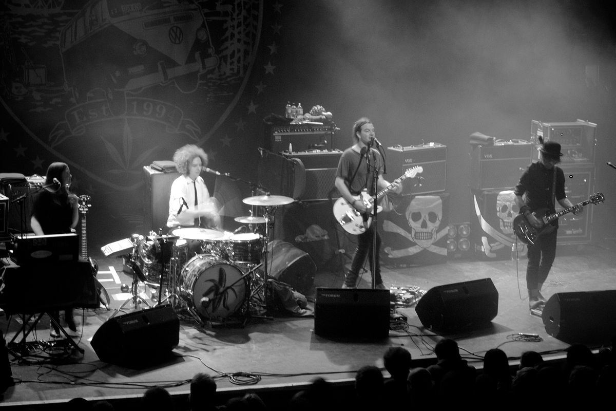 The Dandy Warhols on stage. Image Courtesy: Wikipedia.com