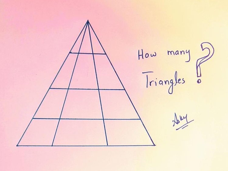 How many triangles can you see here? Image Courtesy: DrASKY/Facebook
