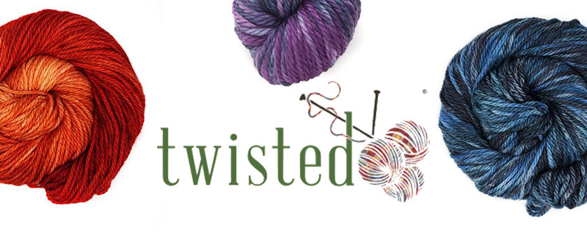 So many yarns, so little time! A visit to Twisted, Portland's very best yarn shop, will leave you in a state of pure creativity. Composite Images and Logo Courtesy: TwistedYarnShop.com