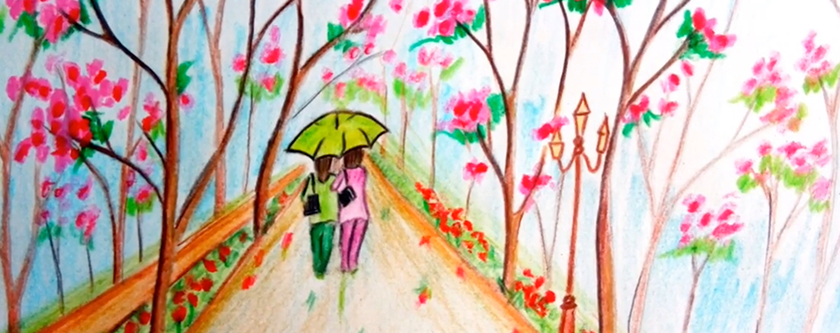 Spring is rolling in…and we are not sad! Image Courtesy: Farjana Drawing Academy