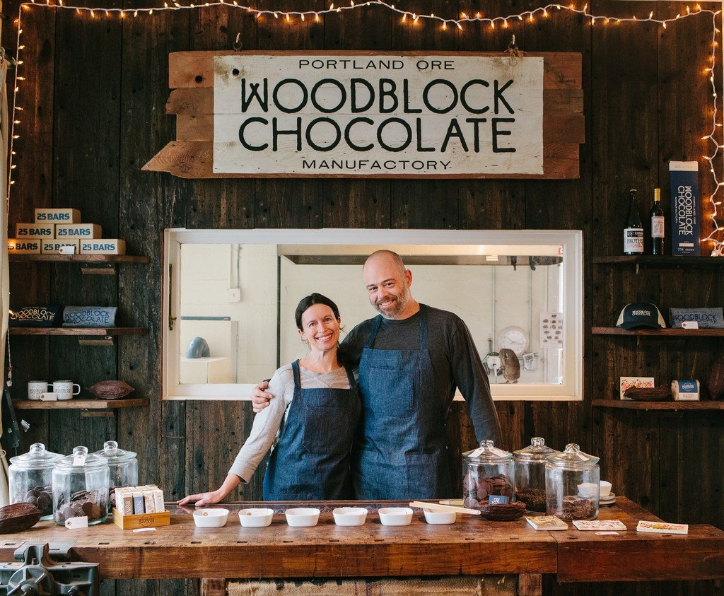 Many thanks to the great team of Jessica and Charley Wheelock, the wife and husband team behind Woodblock Chocolate. Image Courtesy: woodblockchocolate.com