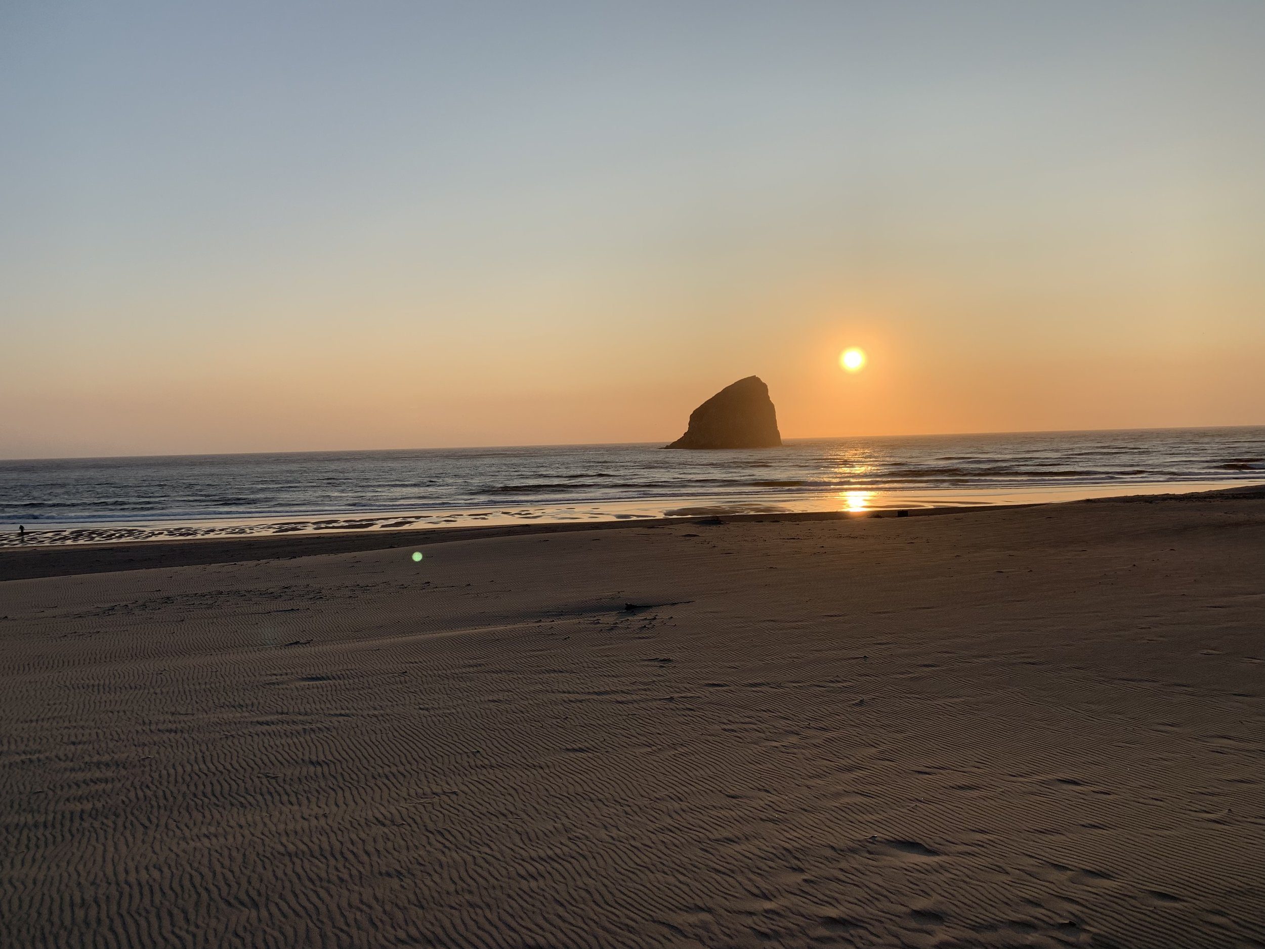 The sunsets along any coast can be spectacular. But when it's in a place you've grown up going to, after a great dinner and several amazing waves, well, that's a topper. Image Courtesy: Dan Meyers