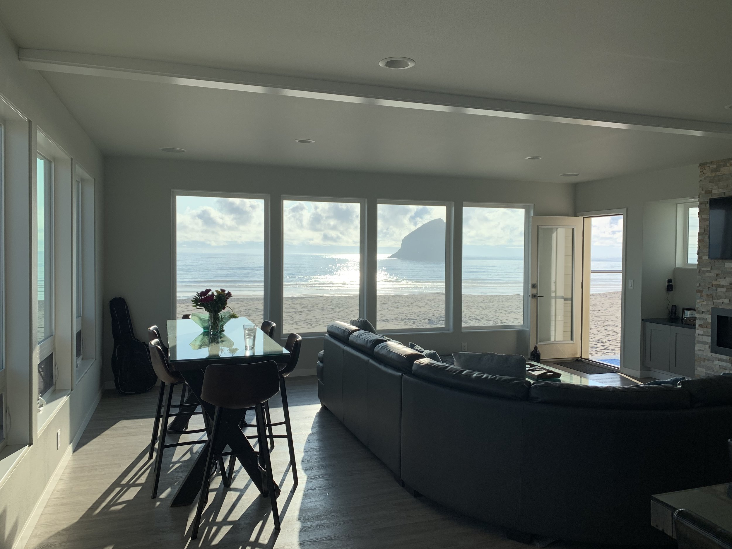 The view from inside our rented beach house. Wow, this was TOUGH to leave! Image Courtesy: Dan Meyers