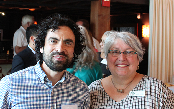 Andina owners Peter Platt and Barb Young. Thank you you two!!! Image Courtesy: PortlandSocietyPage.com