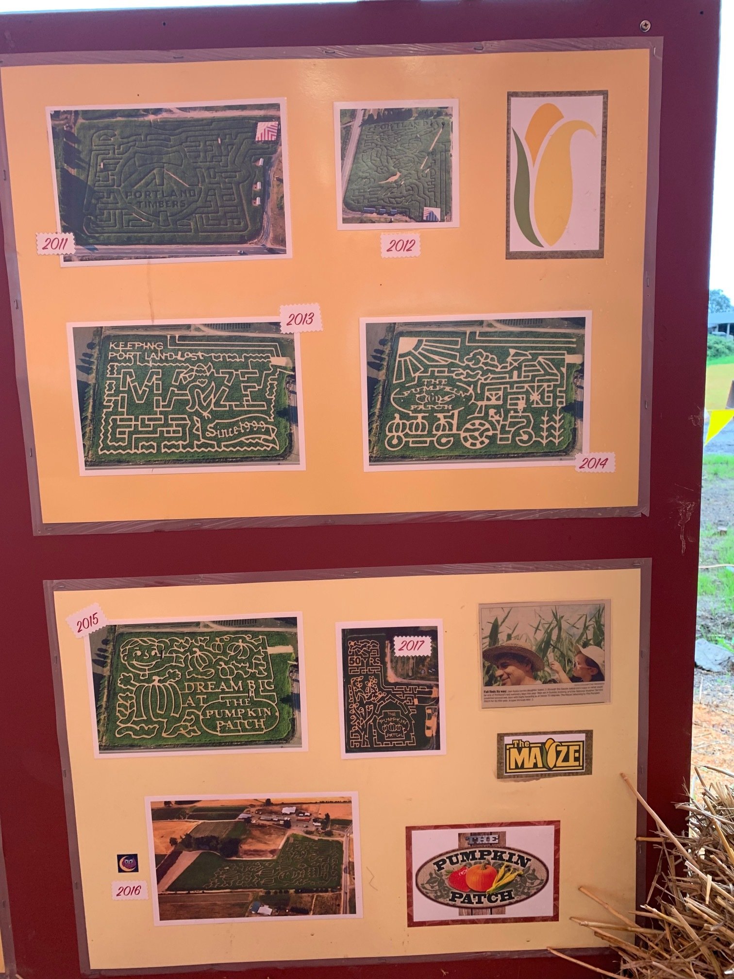 The rest of the historical, corn maze designs from the recent past. Image Courtesy: Dan Meyers