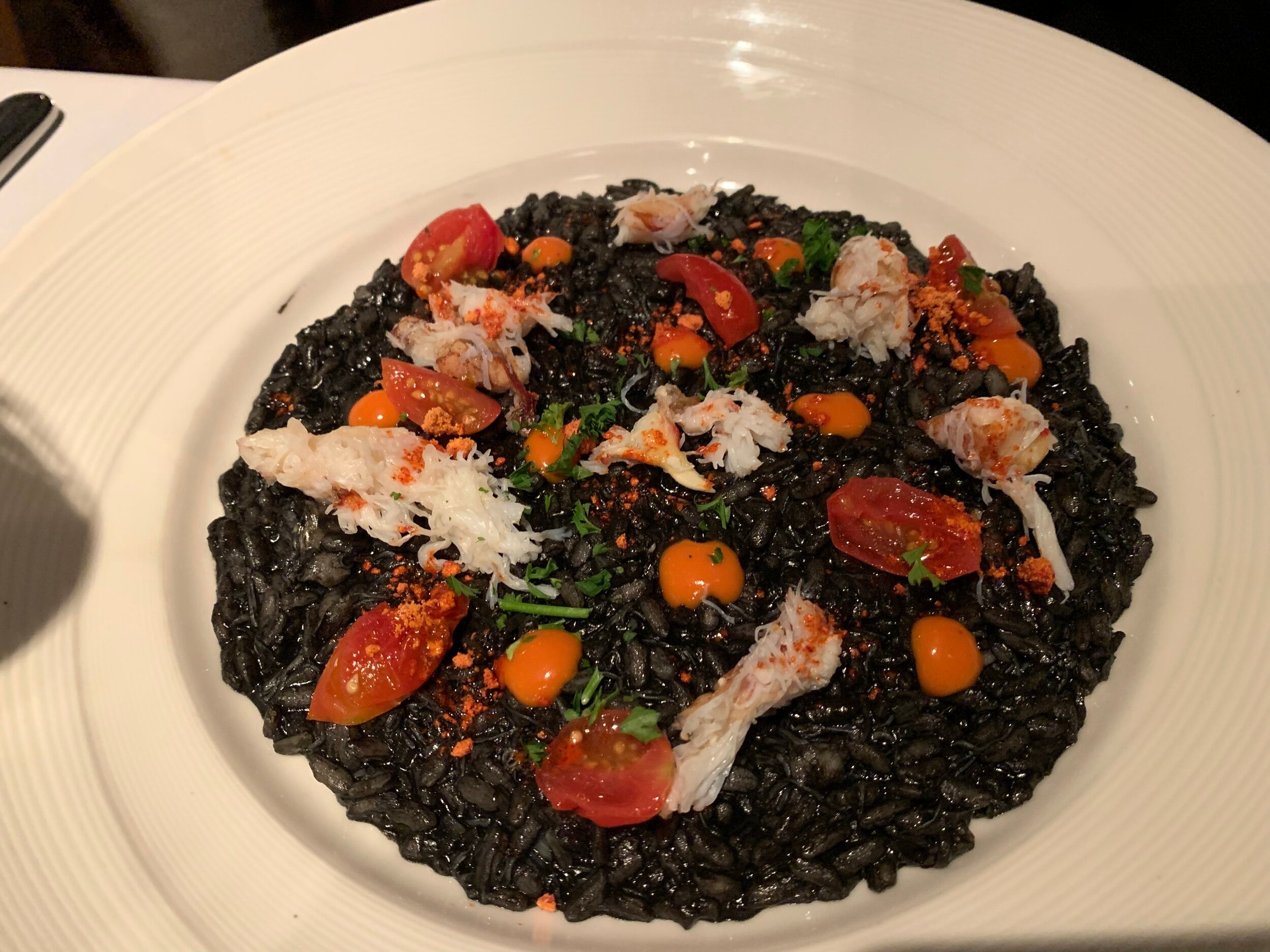 My wife had the Dungeness Crab Risotto with Squid Ink at our last visit. She was NOT disappointed. Image Courtesy: Dan Meyers