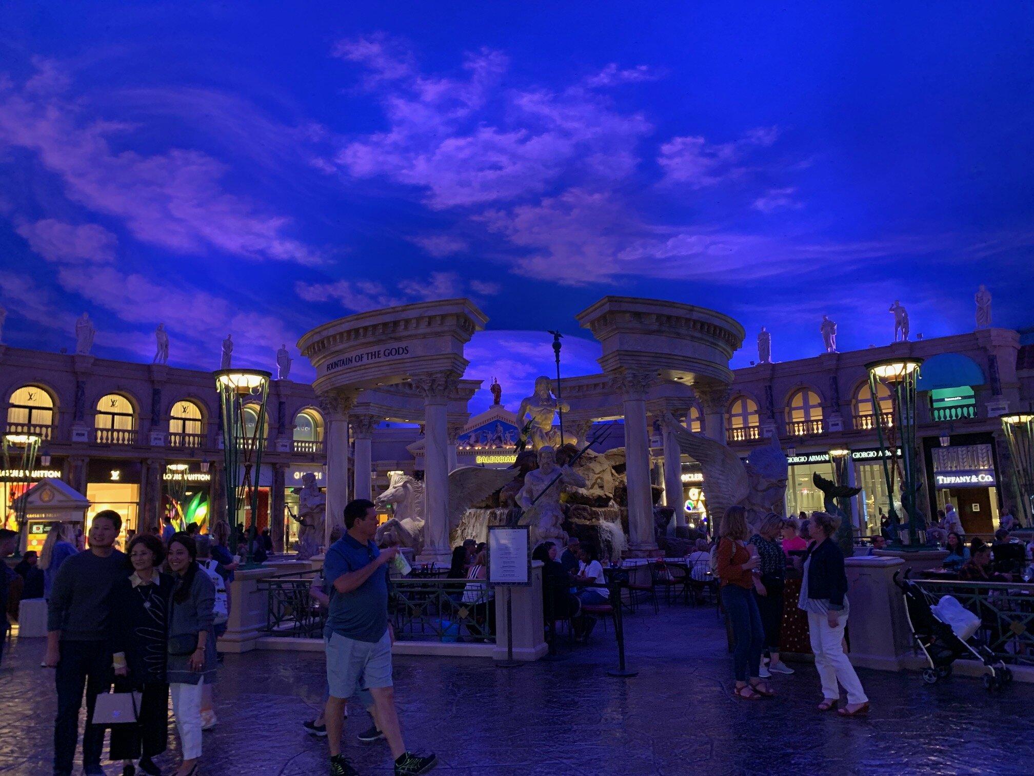 I just love the fake sky inside La Piazza at the Venetian. So faux, so fun. Image Courtesy: Dan Meyers