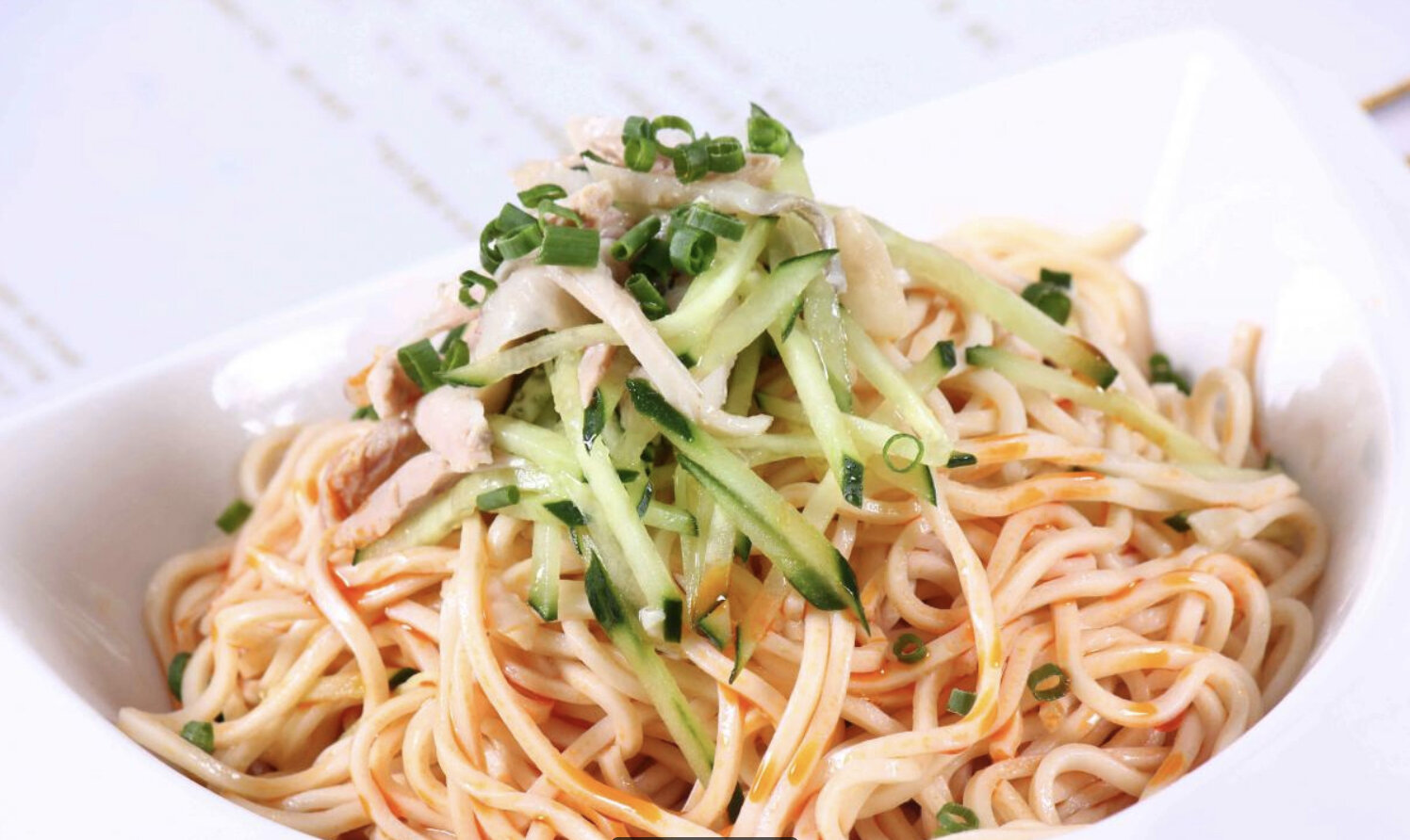 """This dish, """"Noodles with Shredded Chicken and Cucumber"""" was so fresh and filling. I'd come in just for this (a perfect lunch). Image Courtesy: Shanghai Chinese Restaurant"""
