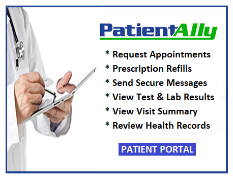 - Click here to log into Patient Portal and access your medical records any time.