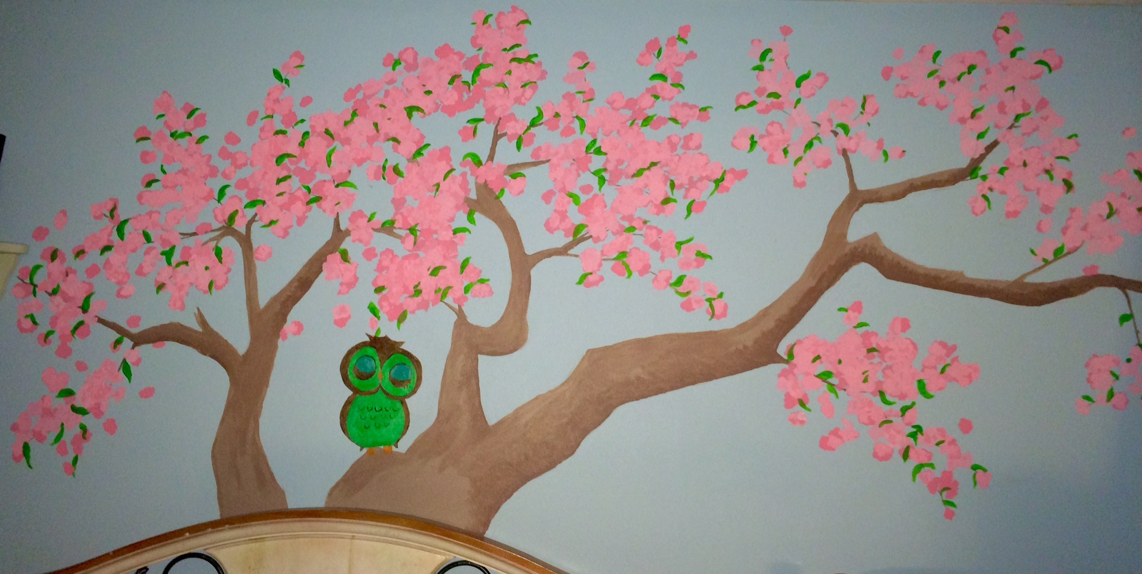 This is a mural I did on a bedroom wall.