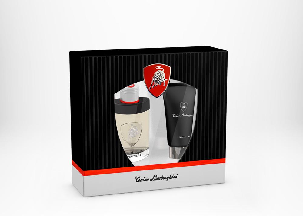 Tonino Lamborghini INVINCIBILE Gift Set Edt 75ml / 2.5 fl. oz. + Shower Gel 150ml / 5.0 fl. oz.