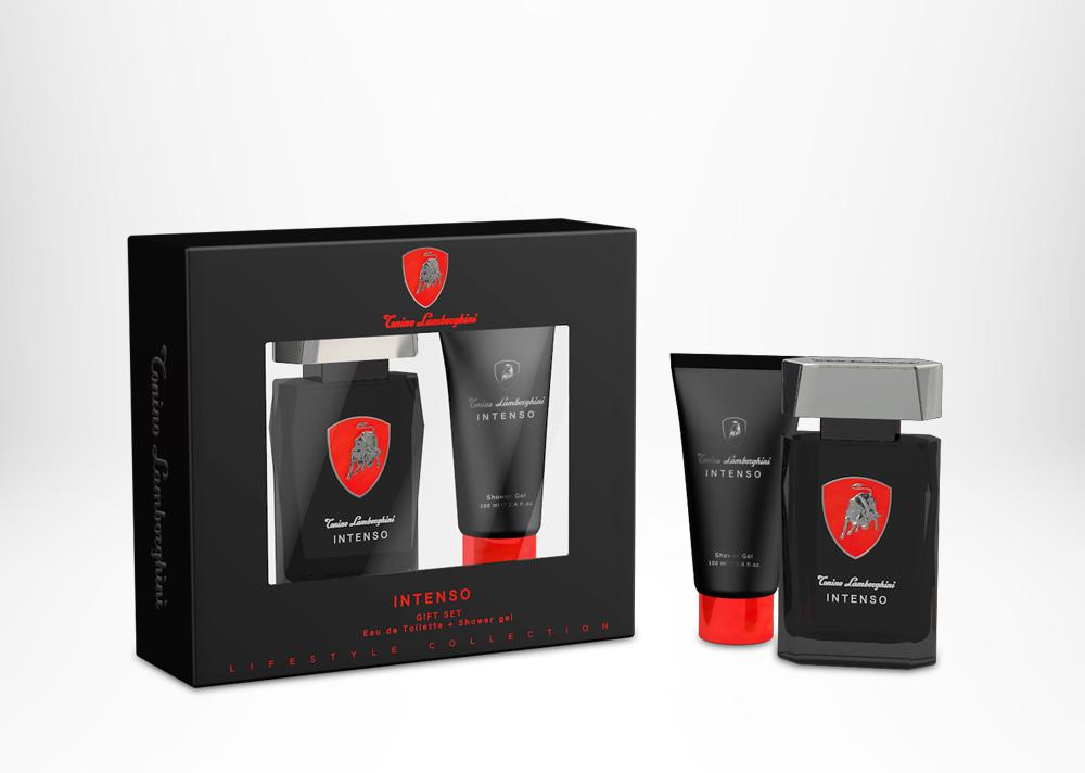 Tonino Lamborghini INTENSO Gift Set (window box) Edt 75 ml / 2.5 fl. oz. + After Shave Balm 100 ml / 3.4 fl.oz