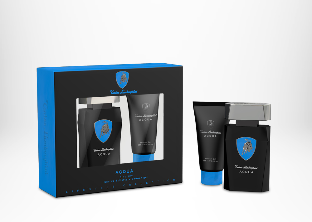 Tonino Lamborghini ACQUA Gift Set (window box) Edt 75 ml / 2.5 fl. oz. + After Shave Balm 100 ml / 3.4 fl.oz