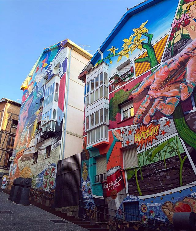 Some seriously epic murals in Vitoria-Gasteiz.